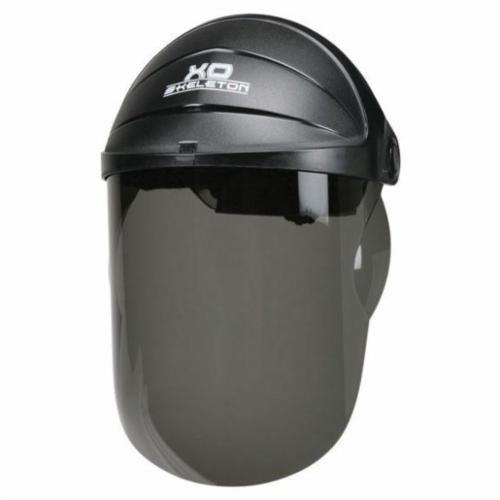 Crews 105 XO Skeleton® Scratch Resistant Faceshield Headgear, Black/Gray, Nylon, Ratchet Adjustment