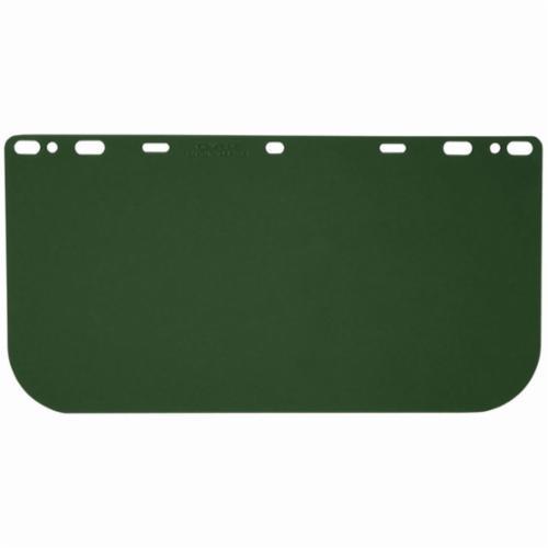 Crews 181541 Faceshield Visor, Medium Green, Polycarbonate, 8 in H x 15-1/2 in W x 0.04 in THK Visor, ANSI Z87+
