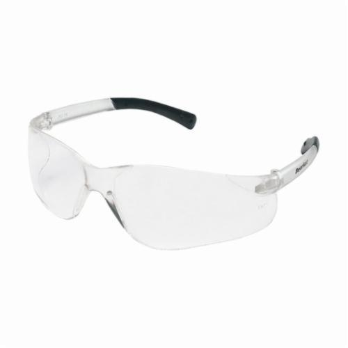 Crews BK110 BearKat® Value Safety Glasses With Side Shields, Duramass® Hard Coat Clear Lens, Wraparound Polycarbonate Frame, Polycarbonate Lens, Specifications Met: ANSI Z87+, AS/NZS 1337.1, CAN/CSAZ94.3, CE EN 166