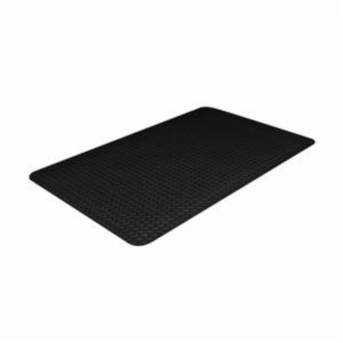Crown® CD 3432DB 505 Ultra Anti-Fatigue Mat, 12 ft L x 3 ft W x 7/8 in THK, Non-Porous Extruded PVC, Deckplate Surface Pattern, Industrial Grade PVC Foam Base, Resists: Flame, Slip and Wear