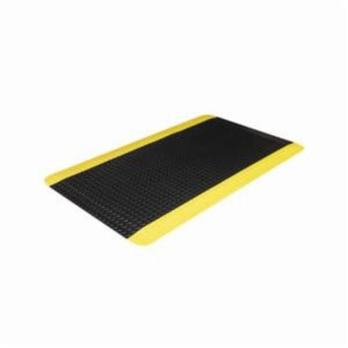 Crown® CD 0023YB 500 Standard Anti-Fatigue Mat, 3 ft L x 2 ft W x 9/16 in THK, Non-Porous Extruded PVC, Deckplate Surface Pattern, Industrial Grade PVC Foam Base, Resists: Flame, Slip and Wear