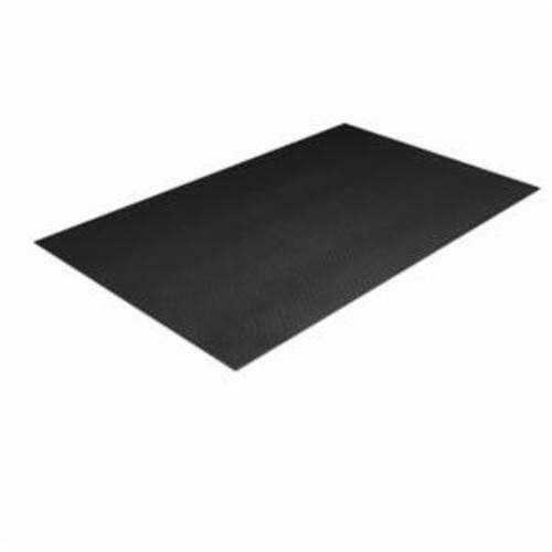 Crown® Comfort-King™ CK 0023BK 440 Standard Anti-Fatigue Mat, 3 ft L x 2 ft W x 3/8 in THK, Zedlan™ Foam, Textured Surface Pattern, Resists: Slip and Wear