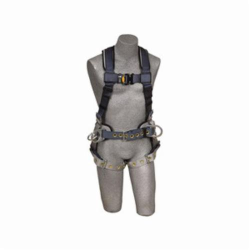 3M DBI-SALA Fall Protection 1100531 ExoFit™ Iron Worker's Harness, M, 420 lb Load, Polyester Strap, Tongue Leg Strap Buckle, Quick-Connect Chest Strap Buckle, Nylon/Steel/Stainless Steel Hardware, Blue