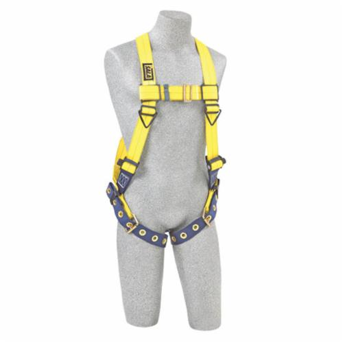 3M DBI-SALA Fall Protection 1101252 Delta™ Multi-Purpose Harness, XL, 420 lb Load, Repel™ Polyester Strap, Tongue Leg Strap Buckle, Quick-Connect Chest Strap Buckle, Steel/Stainless Steel Hardware, Yellow