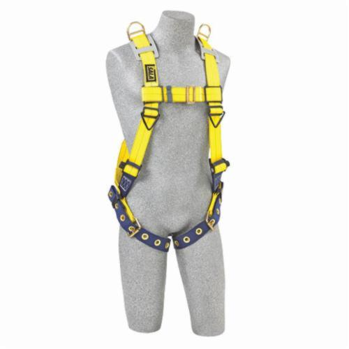 3M DBI-SALA Fall Protection 1101254 Delta™ Entry/Retrieval Unisex Harness, Universal, 420 lb Load, Repel™ Polyester Strap, Tongue Leg Strap Buckle, Pass-Thru Chest Strap Buckle, Steel/Aluminum/Stainless Steel Hardware, Yellow