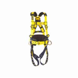 3M DBI-SALA Fall Protection 1101654 Delta™ Multi-Purpose Harness, M, 420 lb Load, Repel™ Polyester Strap, Tongue Leg Strap Buckle, Quick-Connect Chest Strap Buckle, Navy/Yellow