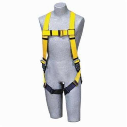 3M DBI-SALA Fall Protection 1103321 Delta™ Multi-Purpose Harness, Universal, 420 lb Load, Repel™ Polyester Strap, Pass-Thru Leg Strap Buckle, Quick-Connect Chest Strap Buckle, Steel Torso/Chest/Leg Buckle/Urethane Delta™ Pad Hardware, Navy/Yellow