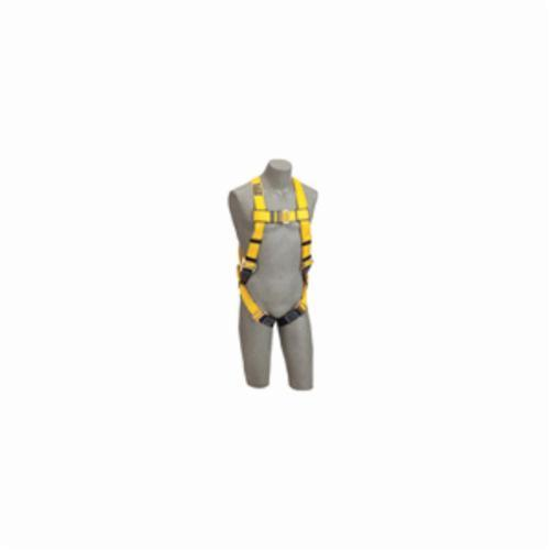 3M™ DBI-SALA® Fall Protection 1102001 Delta™ Multi-Purpose Unisex Harness, Universal, 420 lb Load, Repel™ Polyester Strap, Parachute Leg Strap Buckle, Quick-Connect Chest Strap Buckle, Navy/Yellow