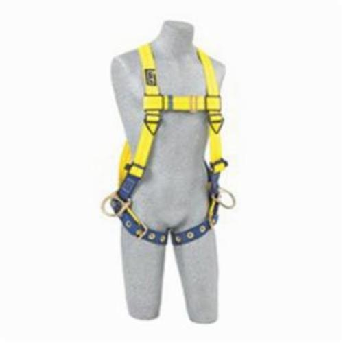 3M DBI-SALA Fall Protection 1102008 Delta™ Multi-Purpose Work Positioning Harness, Universal, 420 lb Load, Tongue Leg Strap Buckle, Navy/Yellow