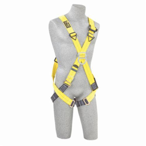 3M DBI-SALA Fall Protection 1102010 Delta™ Unisex Harness, Universal, 420 lb Load, Repel™ Polyester Strap, Pass-Thru Leg Strap Buckle, Steel/Aluminum/Stainless Steel Hardware, Navy/Yellow