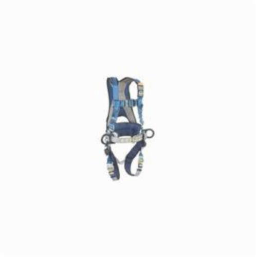 3M DBI-SALA Fall Protection 1102388 ExoFit™ Harness, XL, 420 lb Load, Polyester Strap, Quick-Connect Leg Strap Buckle, Quick-Connect Chest Strap Buckle, Nylon/Steel Hardware, Blue