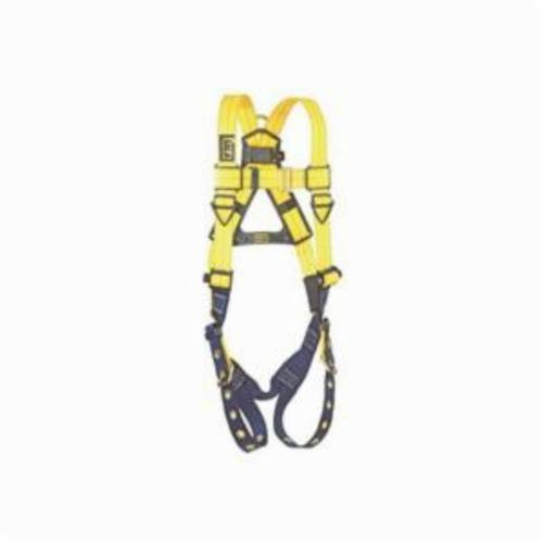 3M DBI-SALA Fall Protection 1102526 Delta™ Multi-Purpose Harness, Universal, 420 lb Load, Repel™ Polyester Strap, Tongue Leg Strap Buckle, Quick-Connect Chest Strap Buckle, Black/Blue/Yellow