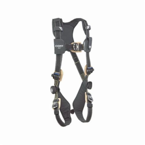3M DBI-SALA Fall Protection 1103088 ExoFit™ NEX™ Arc Flash Harness, XL, 420 lb Load, Kevlar®/Nomex® Strap, Quick-Connect Leg Strap Buckle, Quick-Connect Chest Strap Buckle, Steel Hardware, Black