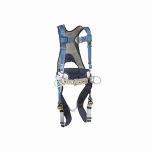 3M DBI-SALA Fall Protection 1108507 ExoFit™ Positioning Harness, XL, 420 lb Load, Polyester Strap, Quick-Connect Leg Strap Buckle, Quick-Connect Chest Strap Buckle, Nylon/Steel Hardware, Blue