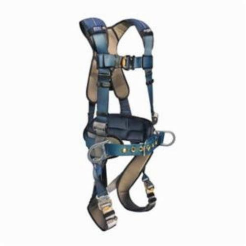 3M DBI-SALA Fall Protection 1110151 ExoFit™ XP Positioning Harness, M, 420 lb Load, Polyester Strap, Quick-Connect Leg Strap Buckle, Quick-Connect Chest Strap Buckle, Steel Hardware, Blue