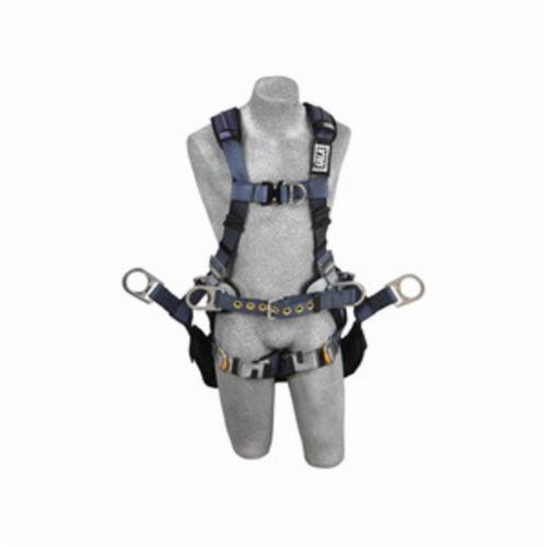 3M DBI-SALA Fall Protection 1110302 ExoFit™ XP Climbing Harness, L, 420 lb Load, Polyester Strap, Quick-Connect Leg Strap Buckle, Quick-Connect Chest Strap Buckle, Steel Hardware, Blue