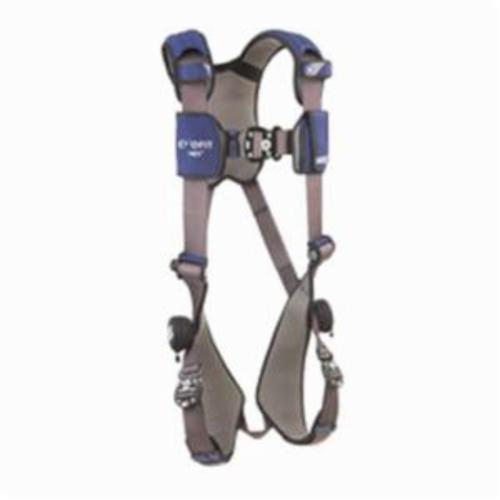 3M DBI-SALA Fall Protection 1113007 ExoFit™ NEX™ Harness, L, 420 lb Load, Repel™ Polyester Strap, Quick-Connect Leg Strap Buckle, Quick-Connect Chest Strap Buckle, Steel/Aluminum Hardware, Gray