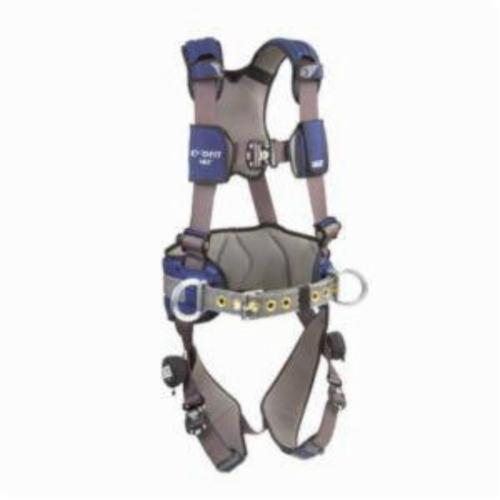 3M DBI-SALA Fall Protection 1113127 ExoFit™ NEX™ Positioning Harness, L, 420 lb Load, Repel™ Polyester Strap, Quick-Connect Leg Strap Buckle, Quick-Connect Chest Strap Buckle, Steel/Aluminum Hardware, Gray