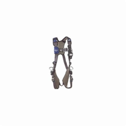 3M DBI-SALA Fall Protection 1113211 ExoFit™ NEX™ Harness, M, 420 lb Load, Repel™ Polyester Strap, Quick-Connect Leg Strap Buckle, Quick-Connect Chest Strap Buckle, Steel/Aluminum Hardware, Gray