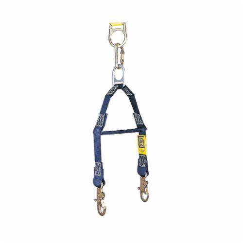 3M DBI-SALA Fall Protection 1231460 Fixed Rescue/Retrieval Y-Lanyard With Spreader Bar, 310 lb Load Capacity, 2 ft L, Polyester Webbing Line, Snap Hook Anchorage Connection, Snap Hook Harness Connection Hook