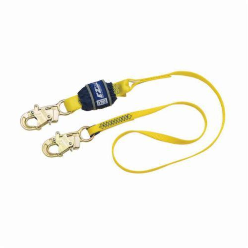 3M DBI-SALA Fall Protection 1246017 EZ-Stop™ Fixed Shock Absorbing Lanyard, 130 to 310 lb Load Capacity, 4 ft L, Polyester Webbing Line, 1 Legs, Snap Hook Anchorage Connection, Snap Hook Harness Connection Hook