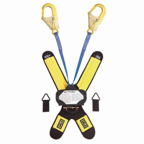 3M DBI-SALA Fall Protection Talon™ 3102000 Quick-Connect Self-Retracting Twin Leg Lifeline With Self-Locking Rebar Hook, 310 lb Load Capacity, 6 ft L, Specifications Met: ANSI A10.32, ANSI Z359.1, ANSI Z359.14, OSHA 1910.66, OSHA 1926.502