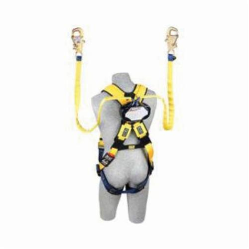 3M DBI-SALA Fall Protection Talon™ 3102100 Quick-Connect Self-Retracting Twin Leg Lifeline With Tie-Back Self-Locking Hook, 310 lb Load Capacity, 7.5 ft L, Specifications Met: ANSI A10.32, OSHA 1910.66, OSHA 1926.502