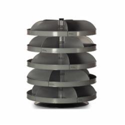 DURHAM MFG® Rotabin® 1305-95 Revolving Bin, 34 in, 2500 lb Load, 5 Shelves, Steel, Gray