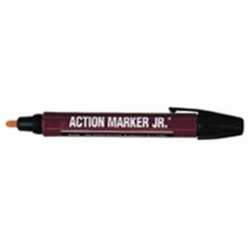Dykem® 44301 High Purity 44 Permanent Paint Marker, Medium Tip, Aluminum Barrel Container/Fiber Tip, Red