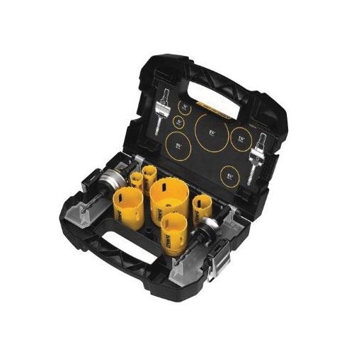 DeWALT® Guaranteed Tough® D180001 Plumber's Hole Saw Kit, 9 Pieces, Bi-Metal
