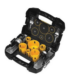 DeWALT® Guaranteed Tough® D180002 Electrician's Hole Saw Set, 9 Pieces, Bi-Metal