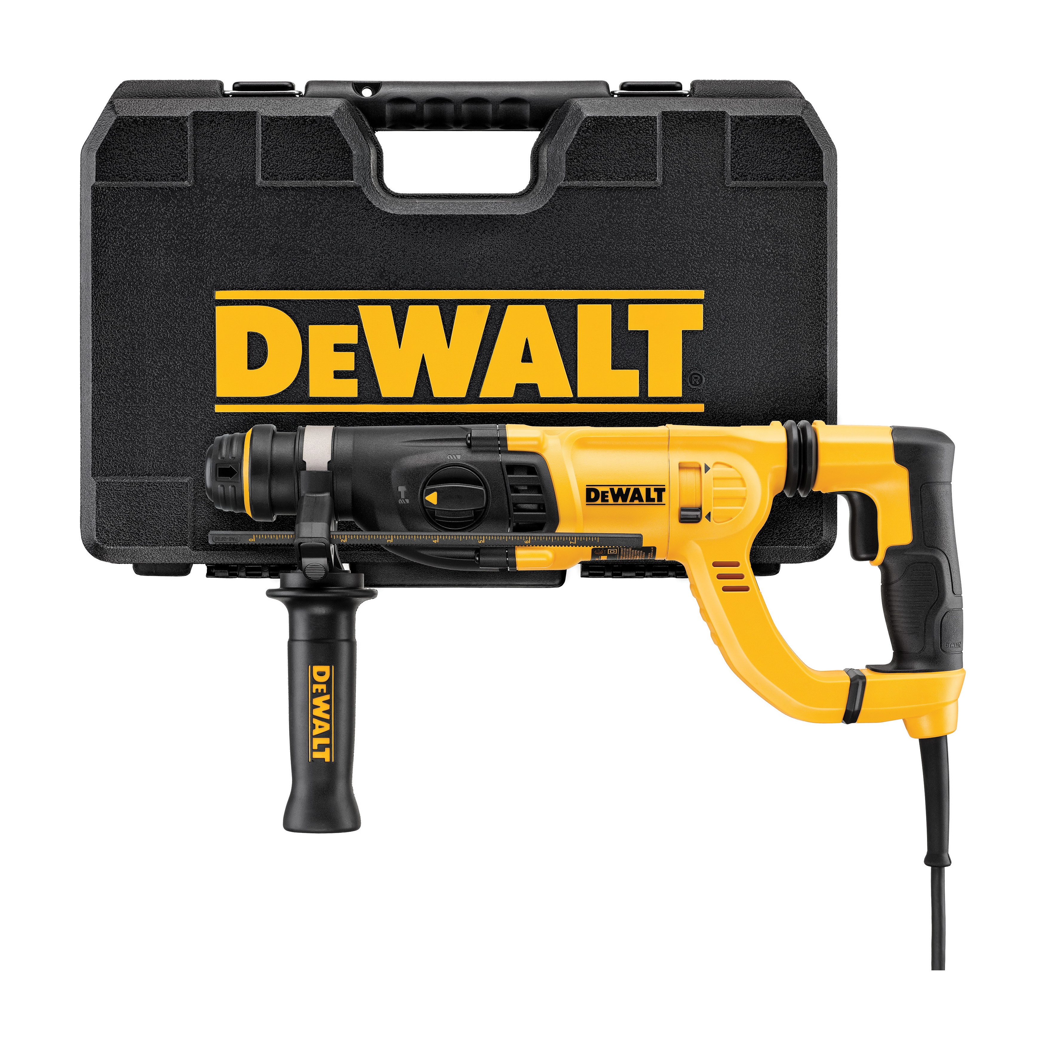 DeWALT® D25262K Corded Rotary Hammer Kit, 1 in SDS Plus® Chuck, 0 to 5540 bpm, 0 to 1500 rpm No-Load, 17-1/4 in OAL