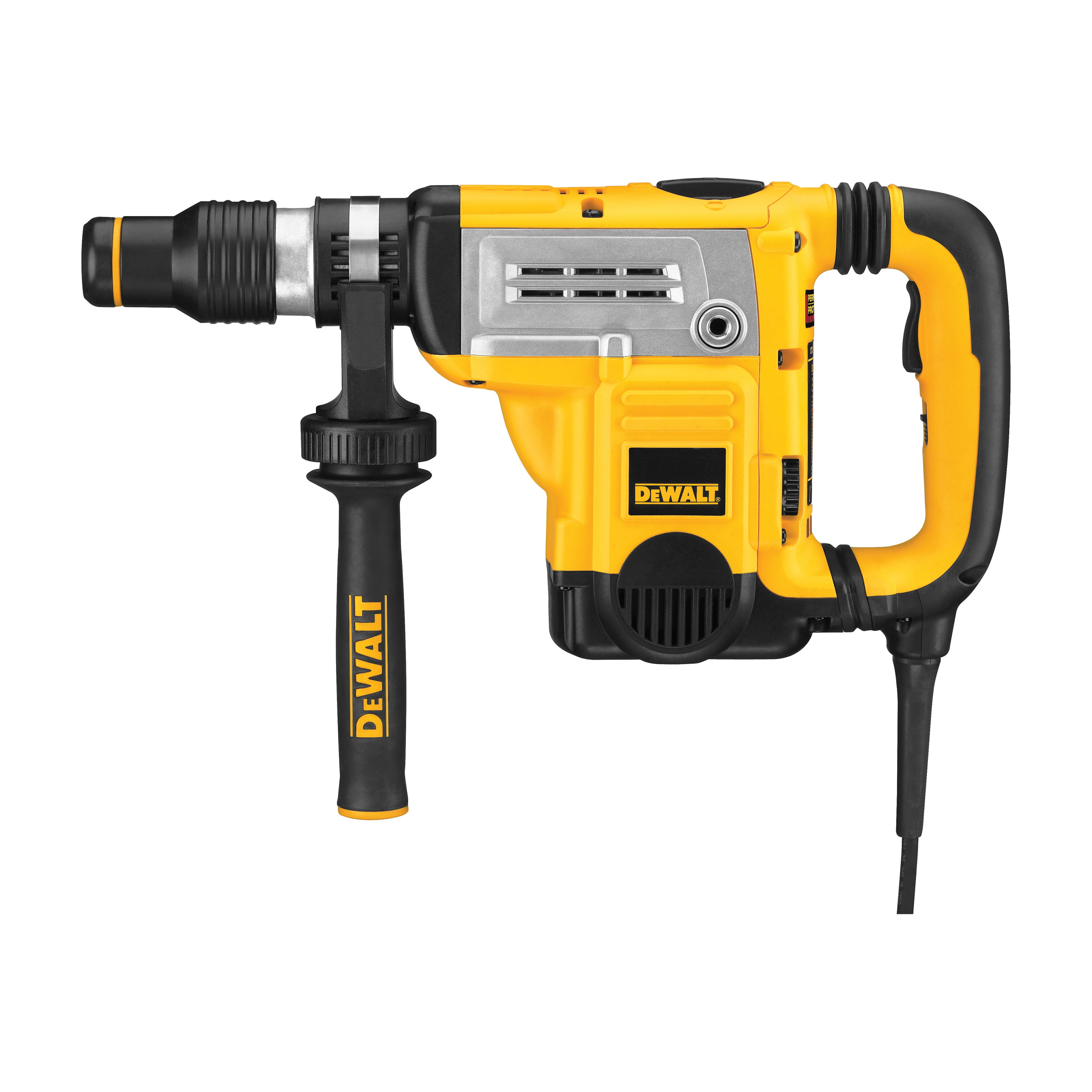DeWALT® D25601K Combination Rotary Hammer Kit, 1-3/4 in SDS Max® Chuck, 1430 to 2840 bpm, 210 to 415 rpm No-Load, 4 in Max Core Bit Compatibility, 1-1/4 in Max Solid Bit Capacity, 18.600000000000001 in OAL