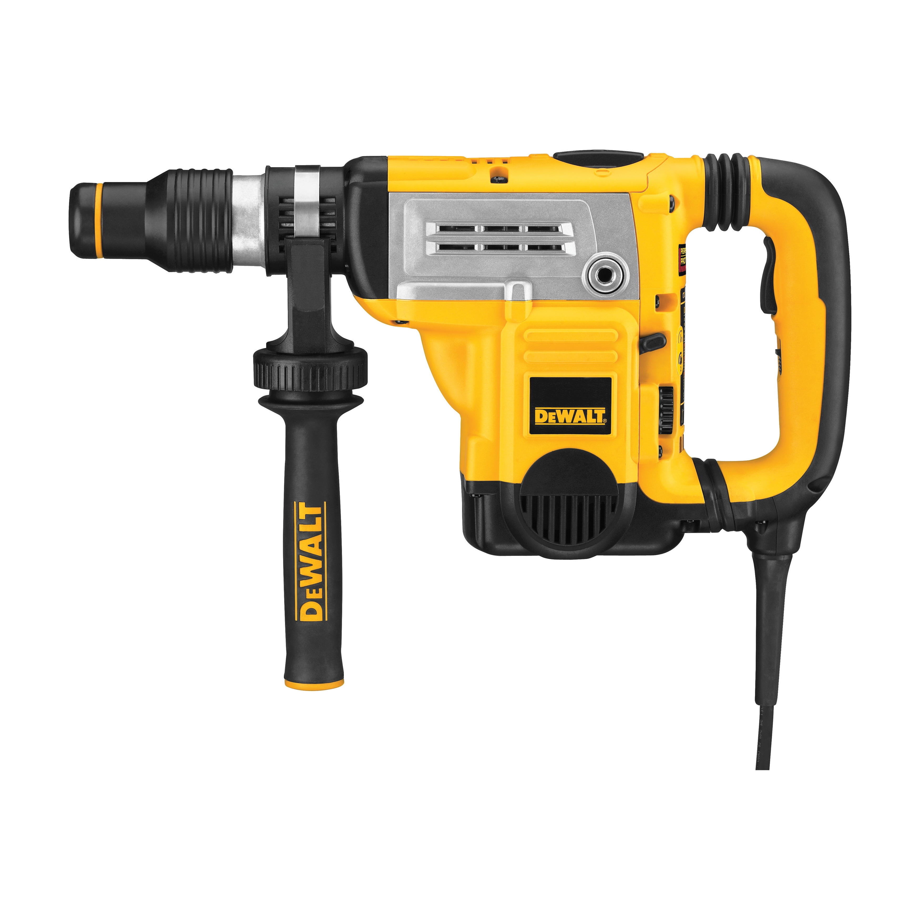 DeWALT® D25603K Combination Rotary Hammer Kit, 1-3/4 in SDS Max® Chuck, 1430 to 2840 bpm, 210 to 415 rpm No-Load, 4 in Max Core Bit Compatibility, 1-3/8 in Max Solid Bit Capacity, 18.6 in OAL