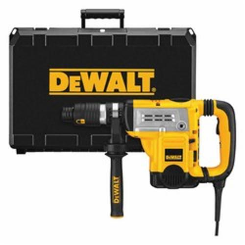 DeWALT® D25651K Electronic Rotary Hammer Kit, 1-3/4 in Spline Chuck, 1430 to 2840 bpm, 210 to 415 rpm No-Load, 6 in Max Core Bit Compatibility, 1-3/8 in Max Solid Bit Capacity, 18-5/8 in OAL