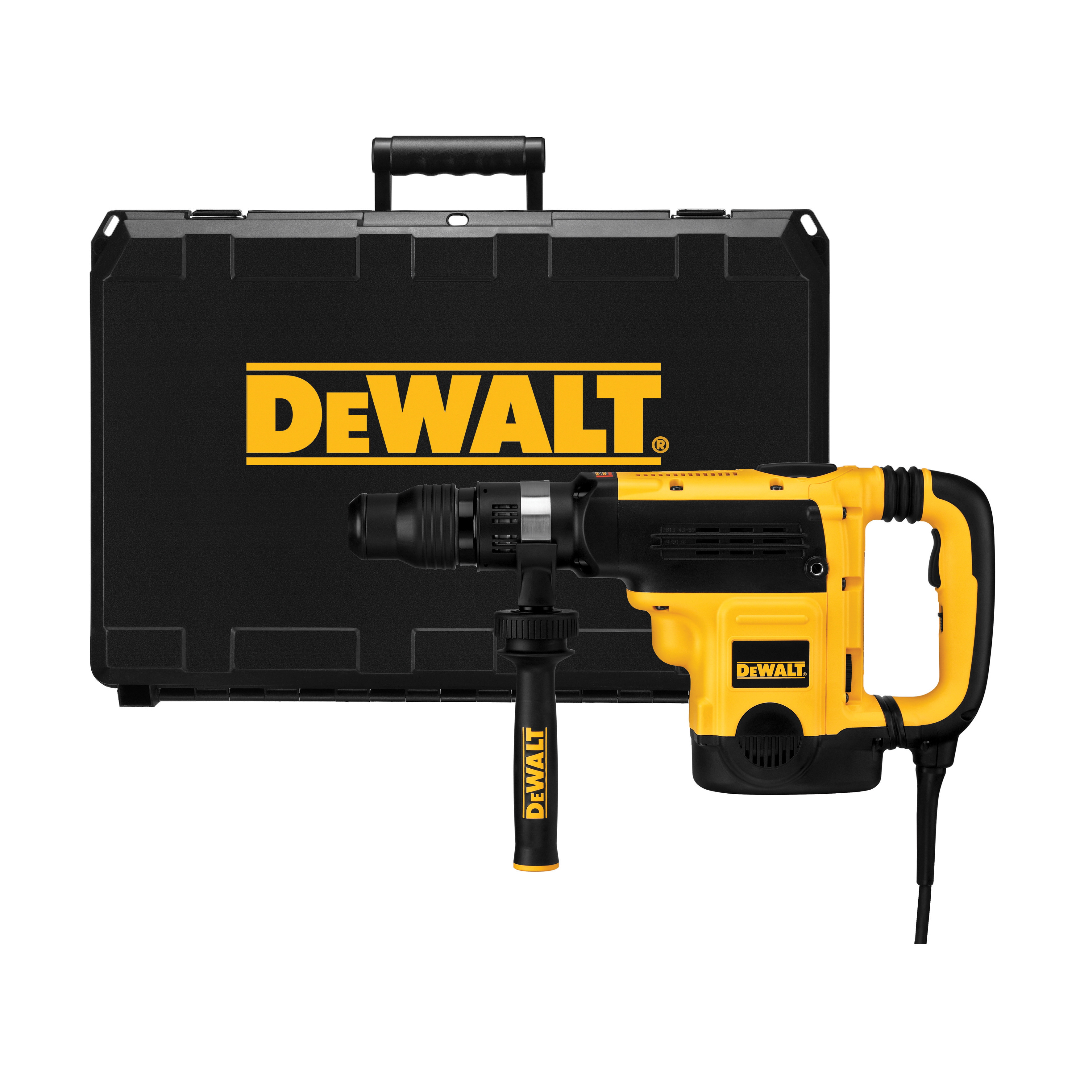 DeWALT® D25721K Combination Rotary Hammer Kit, 1 in SDS Max® Chuck, 1260 to 2520 bpm, 137 to 275 rpm No-Load, 6 in Max Core Bit Compatibility, 1-7/8 in Max Solid Bit Capacity, 20-1/2 in OAL