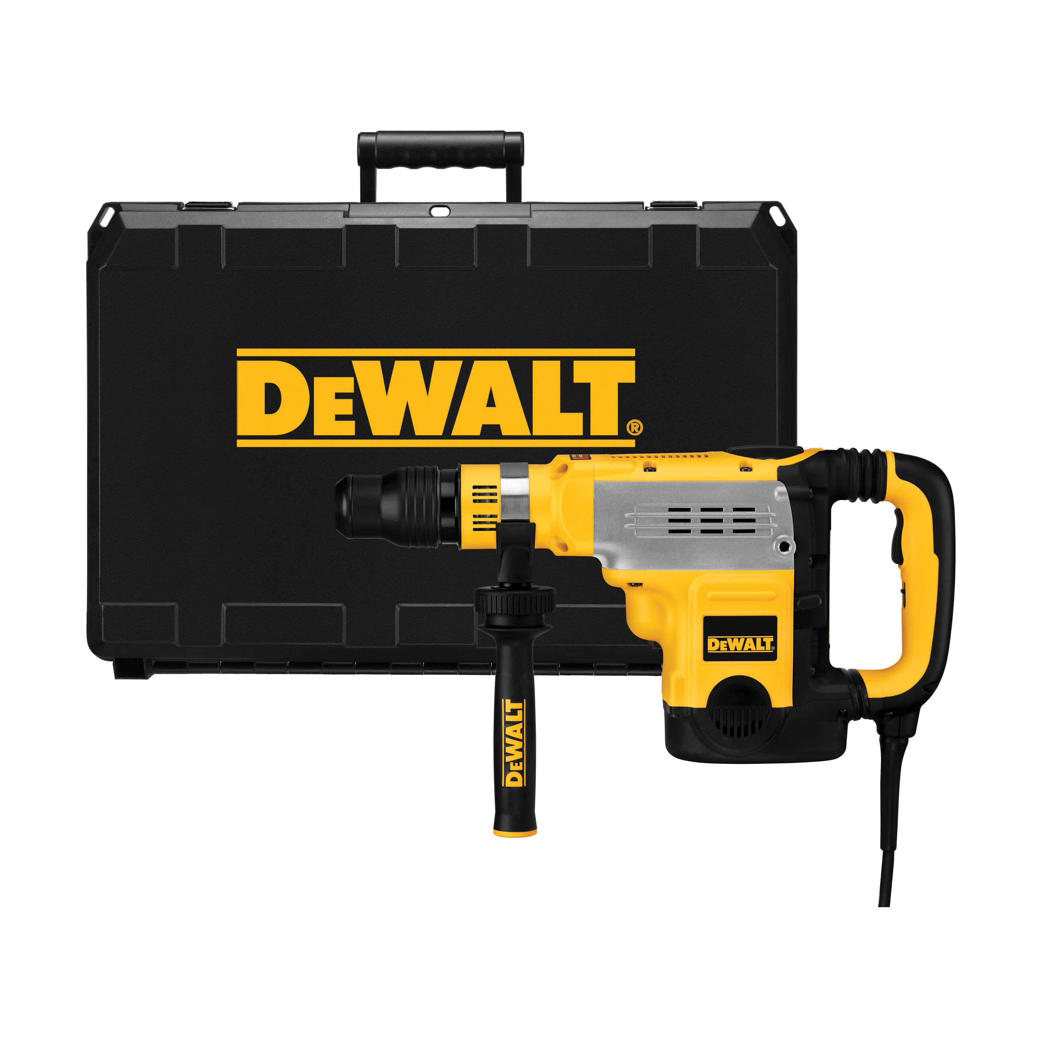 DeWALT® D25723K Combination Rotary Hammer Kit, 1 in SDS Max® Chuck, 1260 to 2520 bpm, 137 to 275 rpm No-Load, 6 in Max Core Bit Compatibility, 1-7/8 in Max Solid Bit Capacity, 20-1/2 in OAL