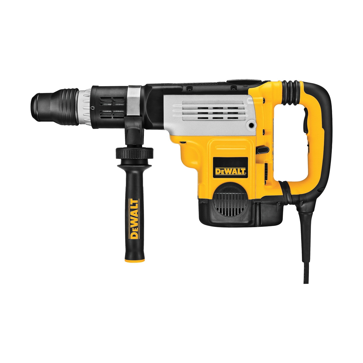 DeWALT® D25763K Combination Rotary Hammer Kit, 2 in SDS Max® Chuck, 1150 to 2304 bpm, 125 to 250 rpm No-Load, 6 in Max Core Bit Compatibility, 2 in Max Solid Bit Capacity, 23 in OAL