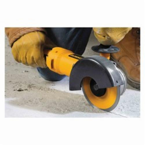 Black+Decker® D28115 High Power Small Angle Grinder, 4-1/2 in, 5 in Dia Wheel, 5/8-11 Arbor/Shank, 120 VAC, Yellow, Trigger Switch