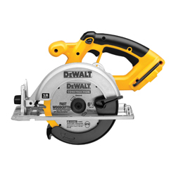DeWALT® DC390B Cordless Circular Saw Kit, 6-1/2 in Dia Blade, 5/8 in Arbor/Shank, 18 VDC, NiCd Battery, Left Blade Side