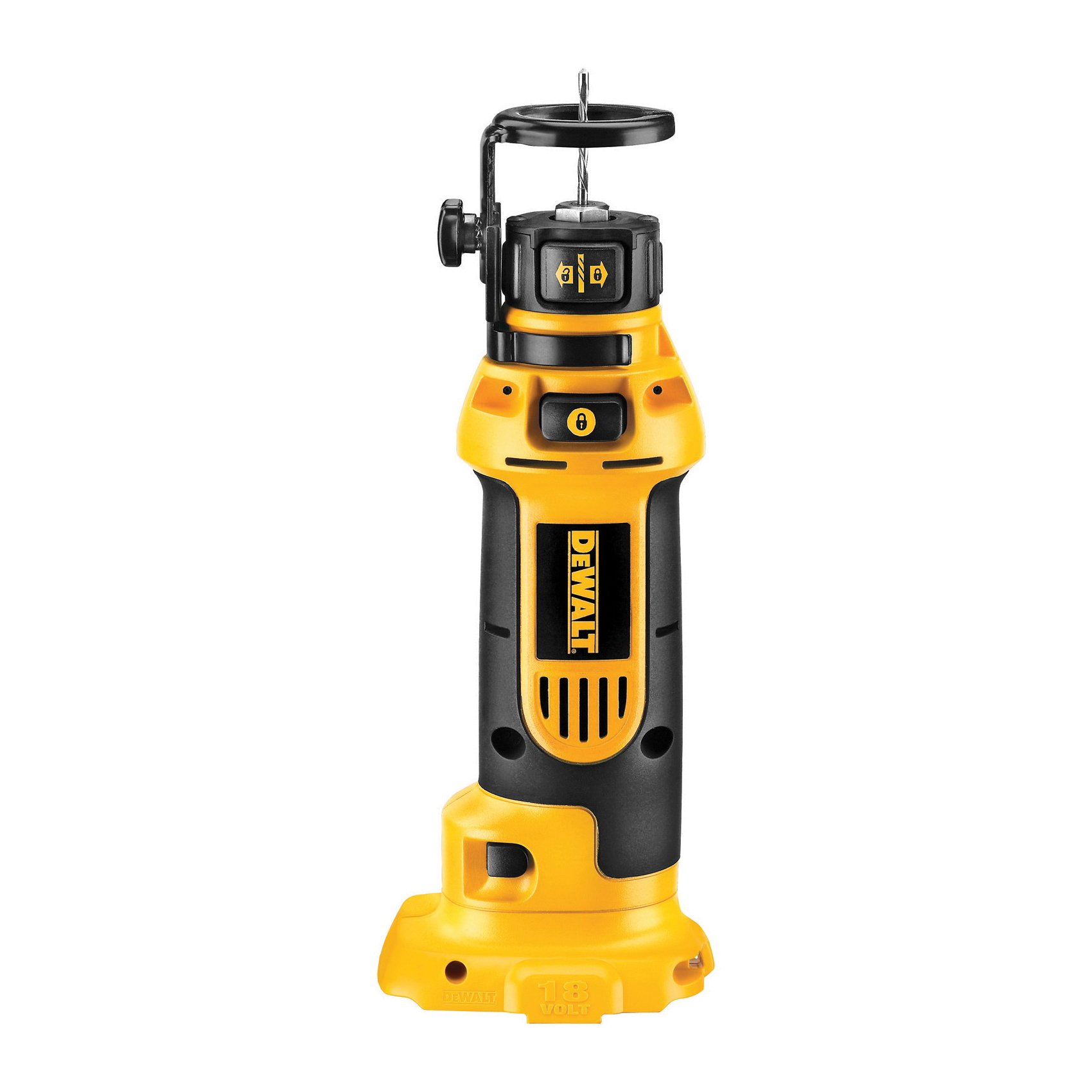 DeWALT® DC550B Cordless Cut-Out Tool, 2.4 Ah NiCd Battery, 18 VDC, 1/4 in, 1/8 in Collet