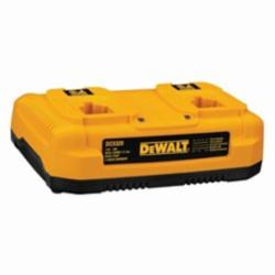 DeWALT® DC9320 Dual Port Heavy Duty Cordless Battery Charger, For Use With DeWALT® 7.2 to 18 V NiCd and Lithium-Ion Battery, Li-Ion/Ni-Cd/Ni-MH Battery, 1 hr Charging, 2 Batteries