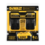 DeWALT® DCB102BP Cordless Battery Charger, For Use With DeWalt® 12 - 20 V Max Series Lithium-Ion BatteMax, Lithium-Ion Battery, 1.5 hr Charging, 2 Batteries