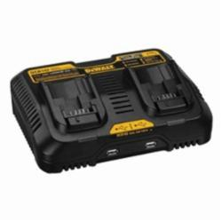 DeWALT® DCB102 Cordless Battery Charger, For Use With DeWalt® 12 to 20 V Max Series Lithium-Ion Batteries and Any USB DeMax, Lithium-Ion Battery, 1.5 hr Charging, 2 Batteries