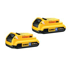 DeWALT® 20V MAX* DCB203BT-2 XR® 2-Piece Slide Cordless Battery Pack With Bluetooth, 2 Ah Lithium-Ion Battery, 20 VDC, For Use With DeWALT® 20V MAX* MAX*