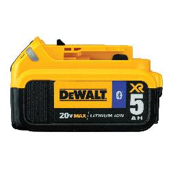 DeWALT® 20V MAX* MATRIX™ DCB205BT, 5 Ah Lithium-Ion Battery, 20 VDC Charge, For Use With Entire Line of 20 V MAX* Cordless Tools