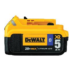 DeWALT® 20V MAX* MATRIX™ DCB205BT-2, 5 Ah Lithium-Ion Battery, 20 VDC Charge, For Use With Entire Line of 20 V MAX* Tools