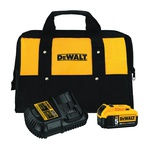 DeWALT® 20V MAX* DCB205CK Premium Battery and Charger Kit, For Use With 20V MAX* Cordless Tools, Lithium-Ion Battery, 1.5 hr Charging, 1 Battery