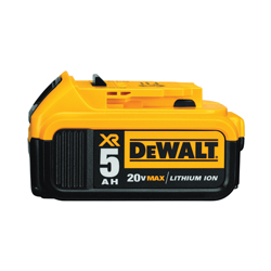 DeWALT® 20V MAX* XR DCB205 Premium Rechargeable Cordless Battery Pack, 5 Ah Lithium-Ion Battery, For Use With DeWalt® 20 V Power Tools