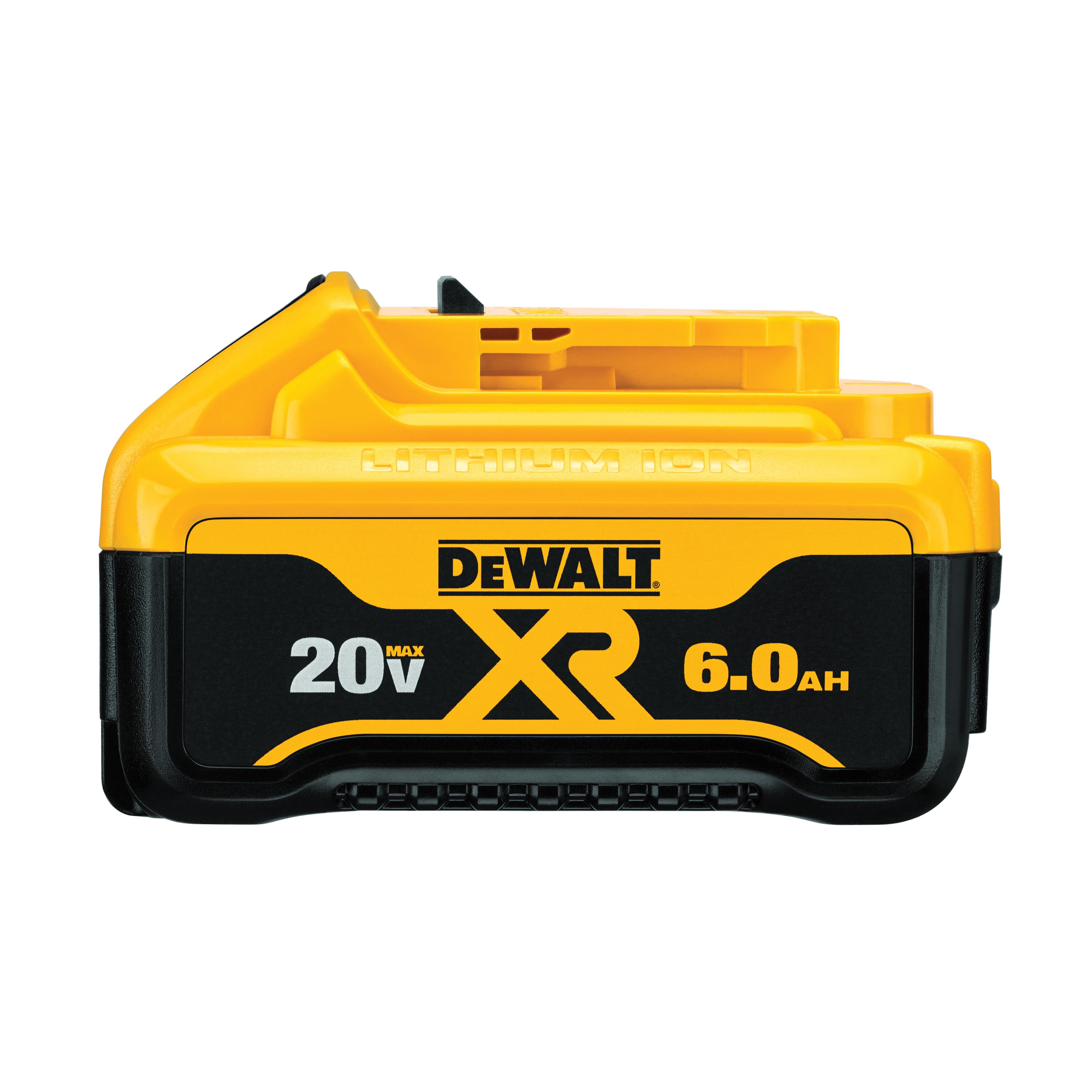 DeWALT® 20V MAX* MATRIX™ XR™ DCB206 Premium Slide-On Battery, 6 Ah Lithium-Ion Battery, 20 VAC Charge, For Use With DeWALT® 20 V Tools